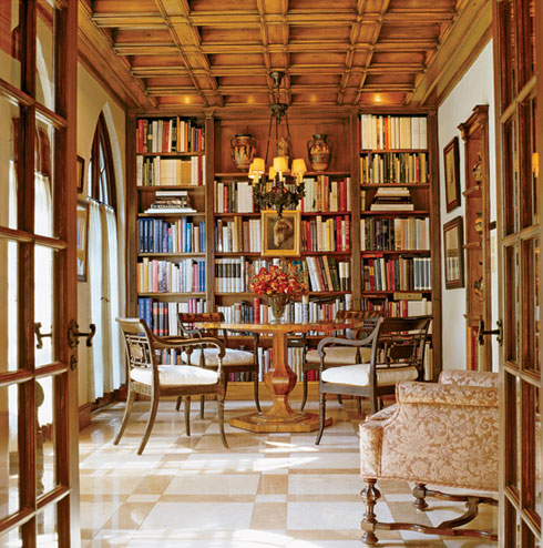 wow factor vintage home library