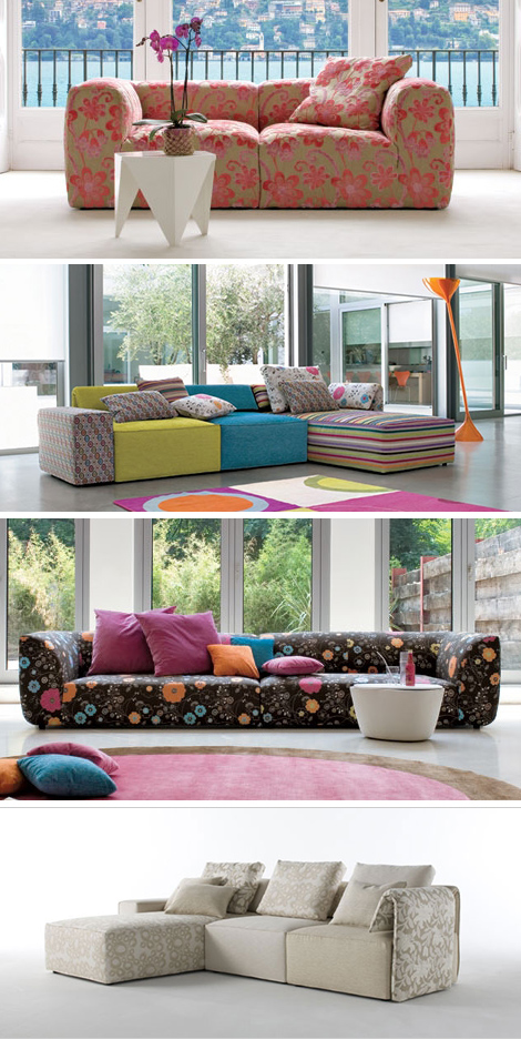 beautiful italian floral sofas