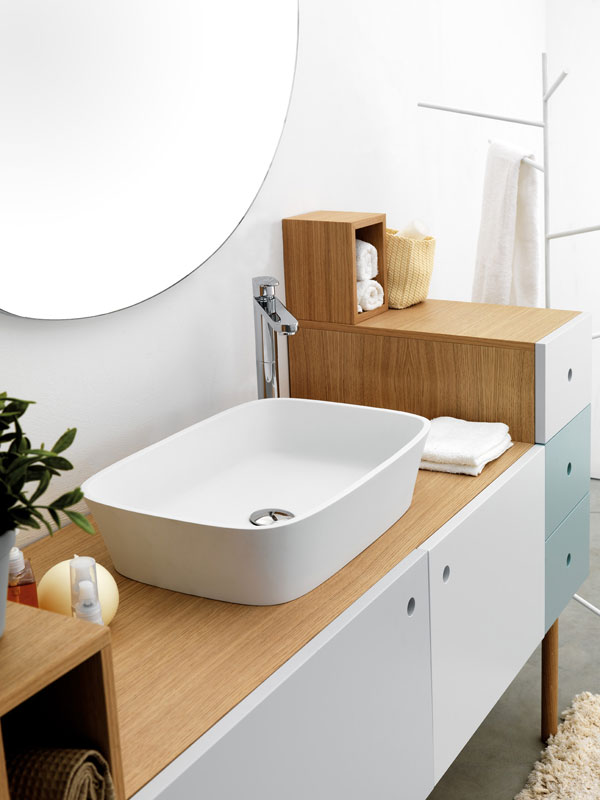 multi functional cabinet with sink for bathroom