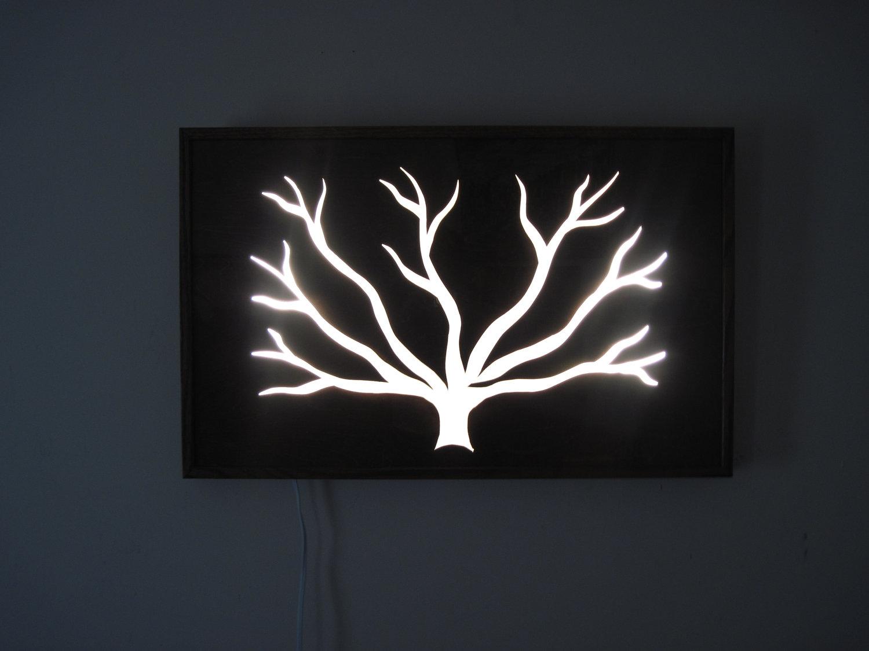 Unique Wall Light Sculpture Art