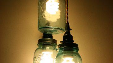 DIY Jar Pendant Light