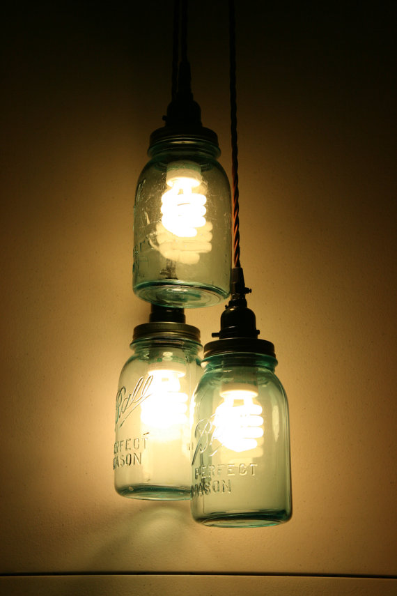 DIY Jar Pendant Light