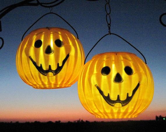 Hanging Lanterns Halloween Pumpkin Solar