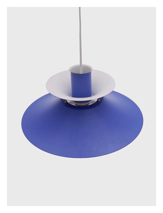 Modern Retro Blue Danish Hanging Lamp by Lyfa 2