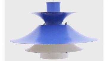 Modern Retro Blue Danish Hanging Lamp by Lyfa