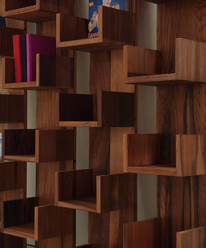 Reclaimed Redwood Stack Shelves by Deger Cengiz 2