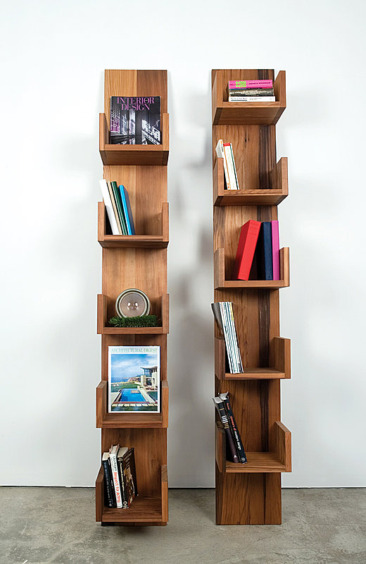 Reclaimed Redwood Stack Shelves by Deger Cengiz 3