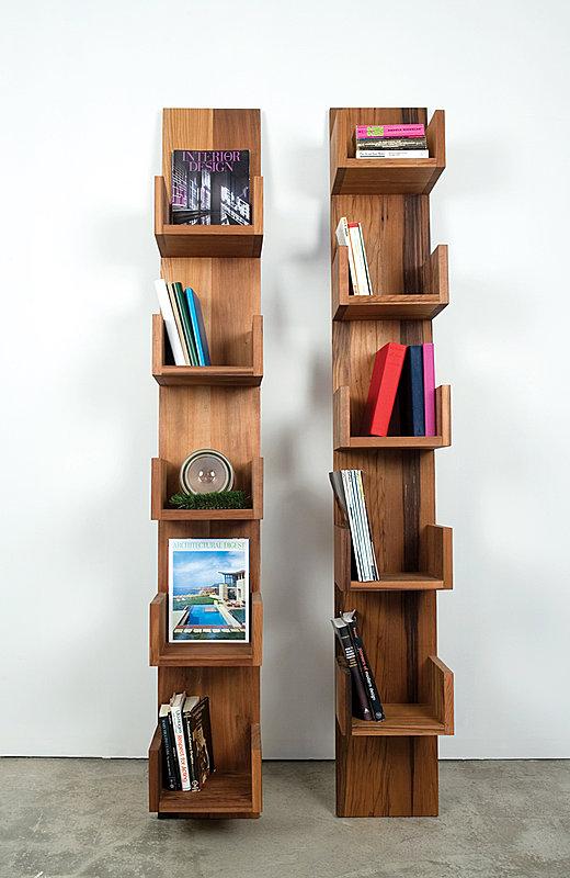 Reclaimed Redwood Stack Shelves by Deger Cengiz 3