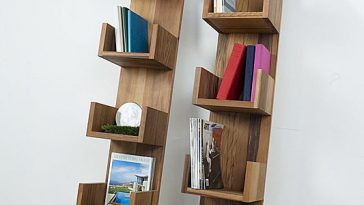 Reclaimed Redwood Stack Shelves by Deger Cengiz