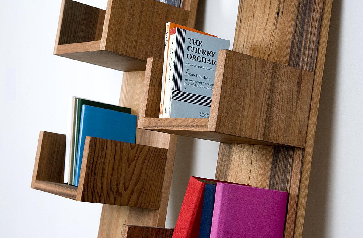 Reclaimed Redwood Stack Shelves by Deger Cengiz 4