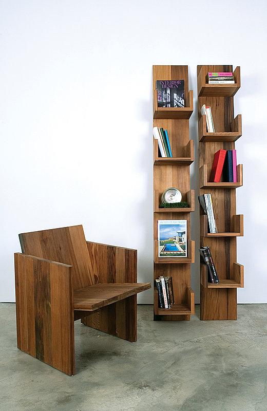 Reclaimed Redwood Stack Shelves by Deger Cengiz 5