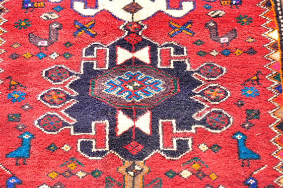Reds Meshkin Tribal Rug Persian 2