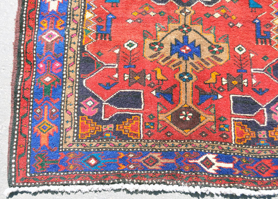 Reds Meshkin Tribal Rug Persian 3
