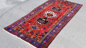 Reds Meshkin Tribal Rug Persian