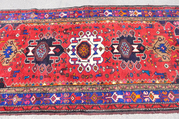Reds Meshkin Tribal Rug Persian 4