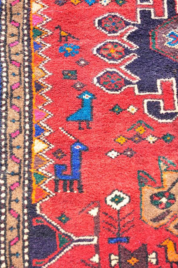 Reds Meshkin Tribal Rug Persian 5