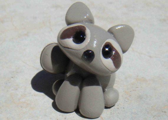 Very Cute Little Raccoon Polymer Clay 2
