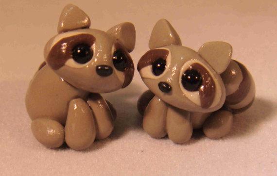 Very Cute Little Raccoon Polymer Clay 5