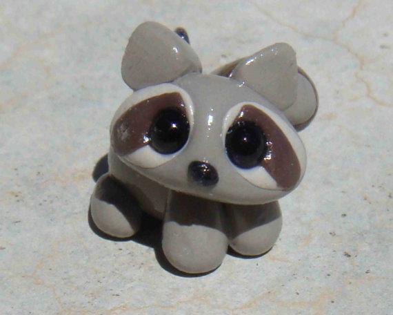 Very Cute Little Raccoon Polymer Clay