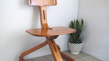 Vintage Mid-century modern bentwood birch chair by Svan Studios