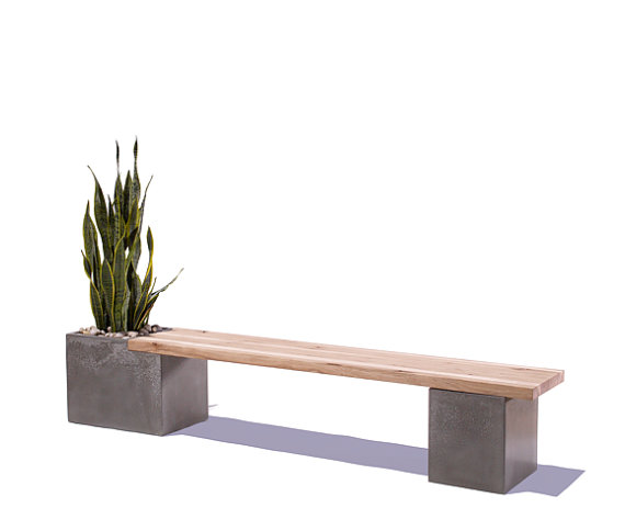 Wood Planter Bench Indoors