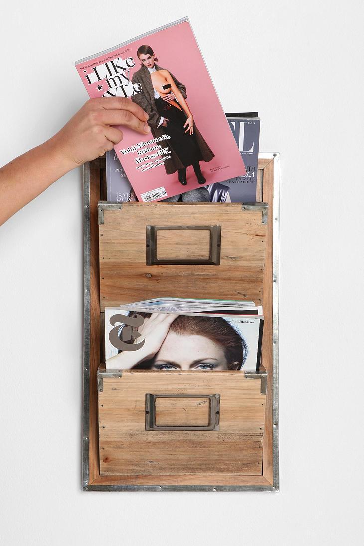 Wooden Room Magazine Rack 3
