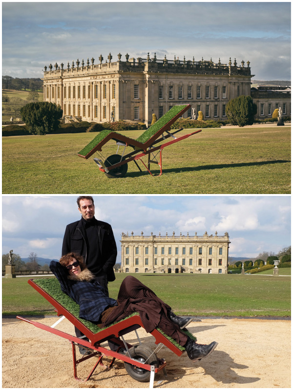 lawn chaise by Deger Cengiz