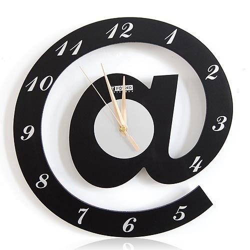 Black Wall Clock @ Letter