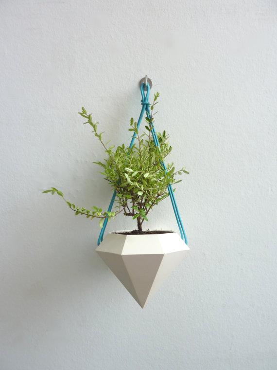 Diamond Curve Hanging Planter 2