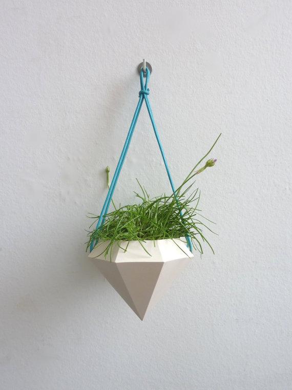 Diamond Curve Hanging Planter 3