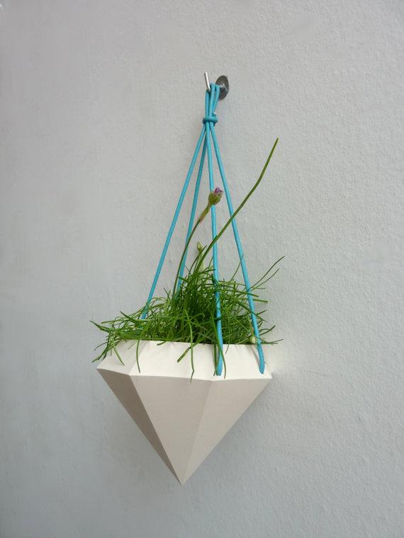 Diamond Curve Hanging Planter 4