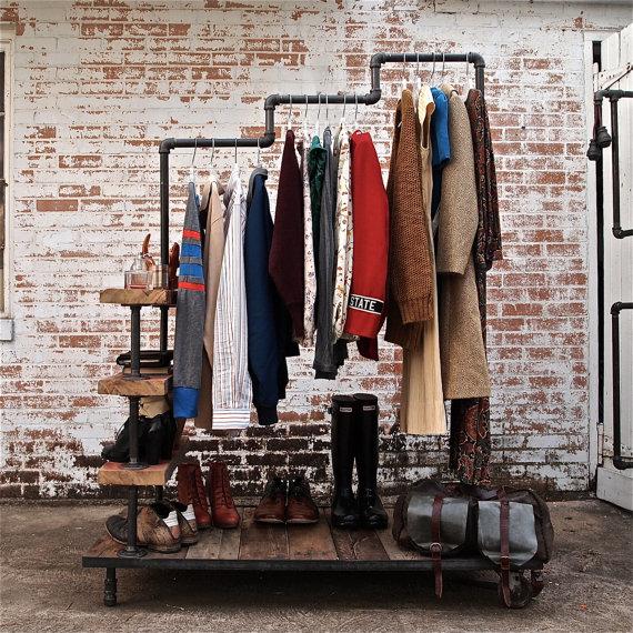 Industrial Garment Rack by stellableudesigns 3