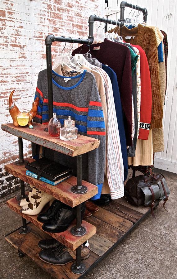 Industrial Garment Rack by stellableudesigns 4