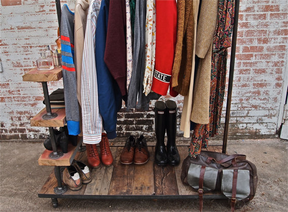 Industrial Garment Rack by stellableudesigns 5