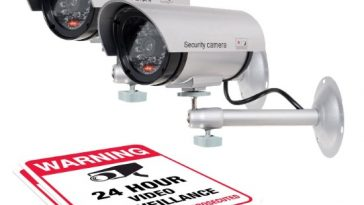 AMRO dummy Camera with large warning signs