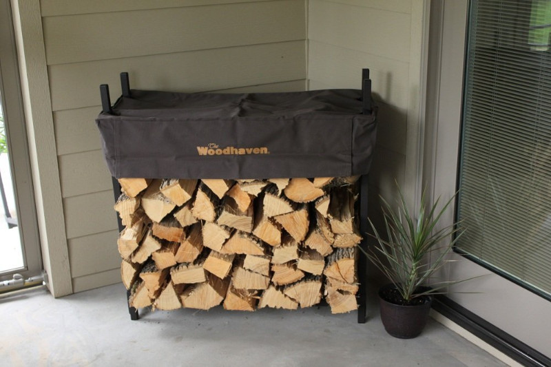 3 foot firewood rack for outdoor with cover
