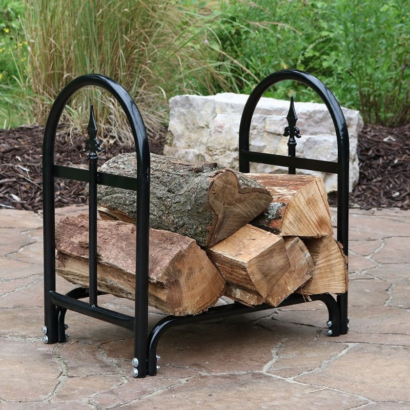 outdoor firewood rack for harsh condition