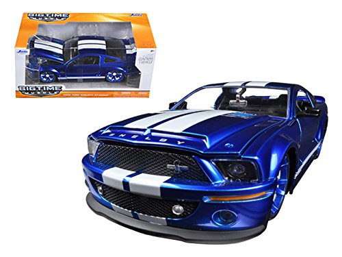 2008 ford mustang GT500 bue on 1-24 scale model car