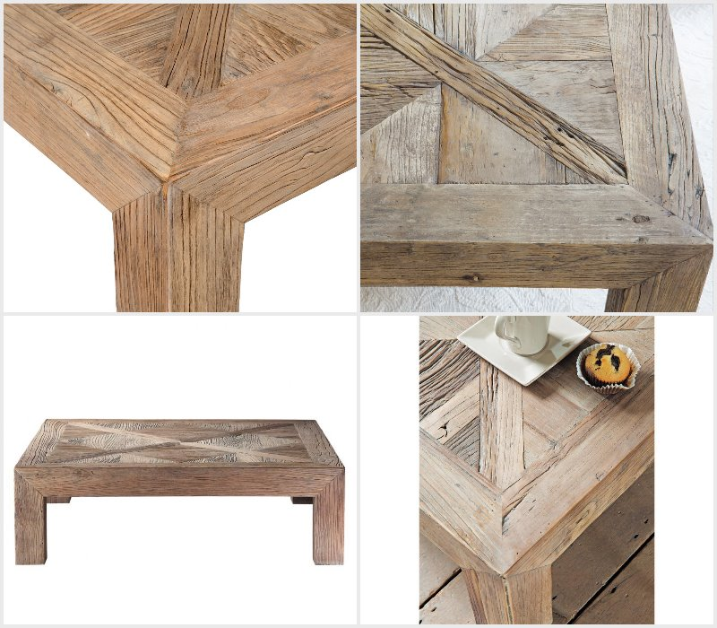 Bruges Massive wooden coffee table by Maison du monde