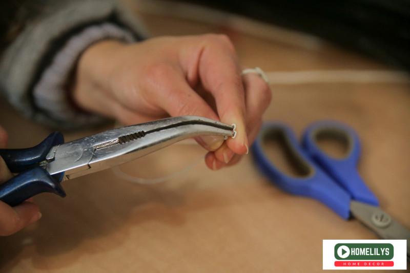 Heart Shape Light Bulb DIY gift idea using plier to shape the wire