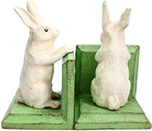 HomArt Cast Iron Bunny Bookends