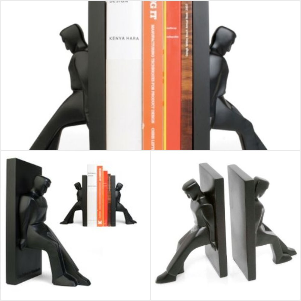 Leaning Men Bookends by Kikkerland