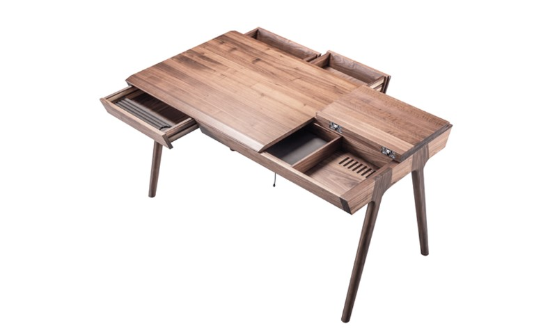 Metis in walnut wooden color view from top