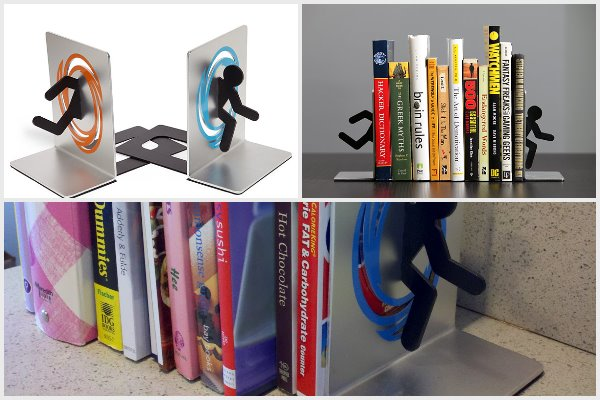 Portal bookends by ThinkGeek