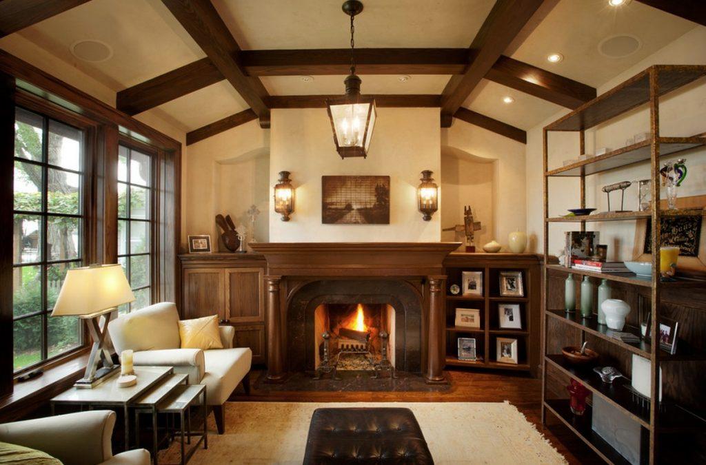 Tudor style living room decoration