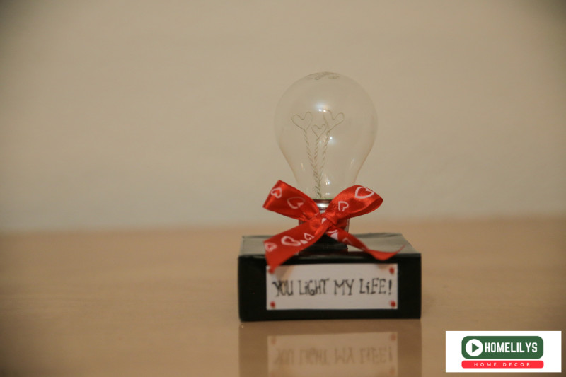 You Light Up My Life DIY gift idea recycle lightbulb