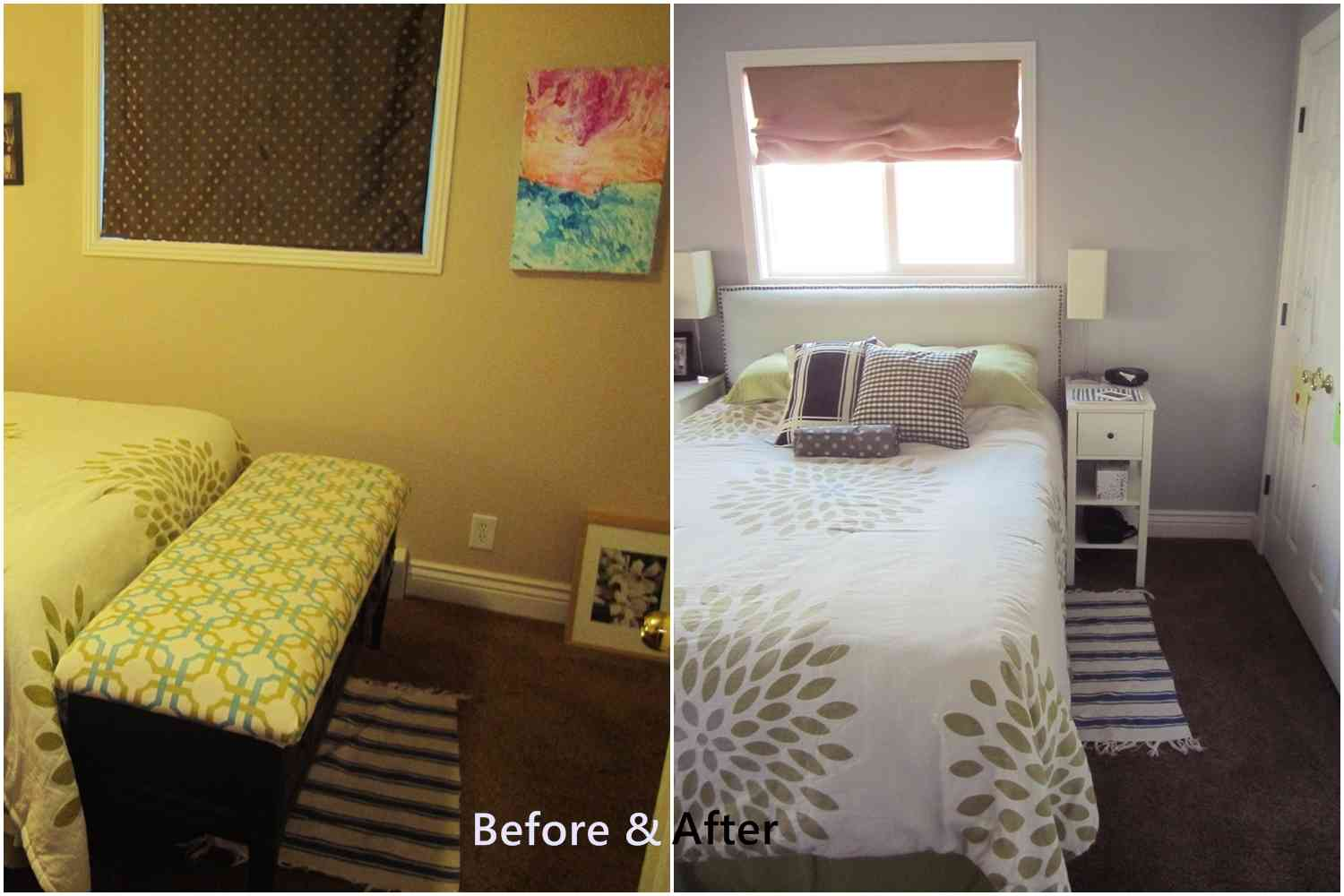 arranging furniture for a small bedroom to make it spacious