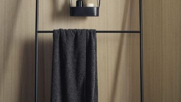 beatiful bathroom racks metal black