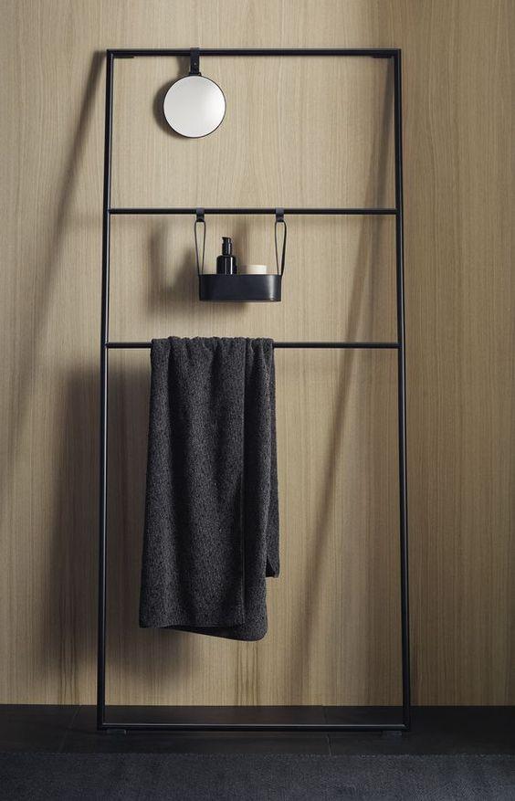 beatiful bathroom racks metal black
