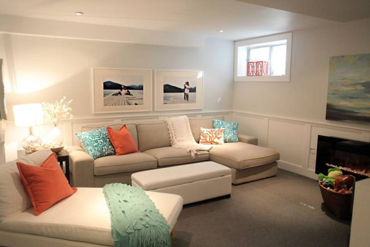 bright color for small basement